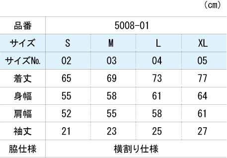 サイズ展開5008-01